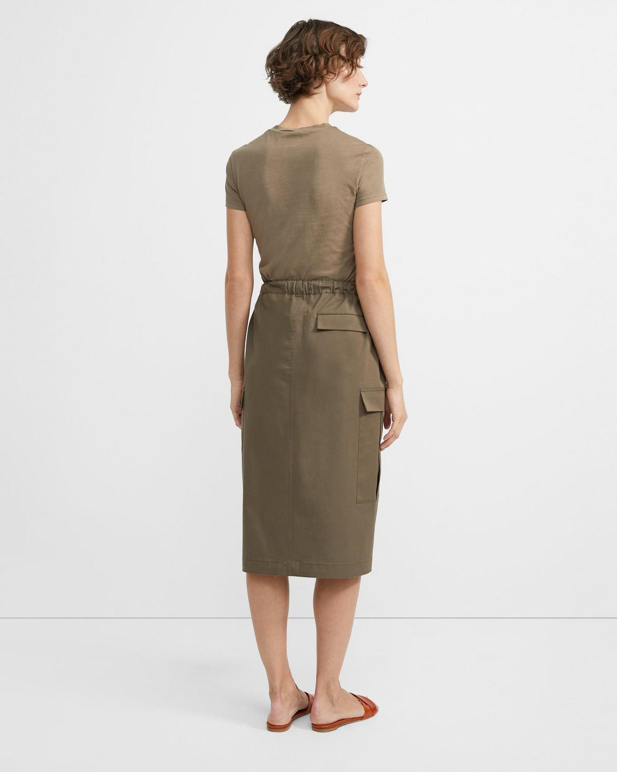 Stretch Chino Cargo Skirt