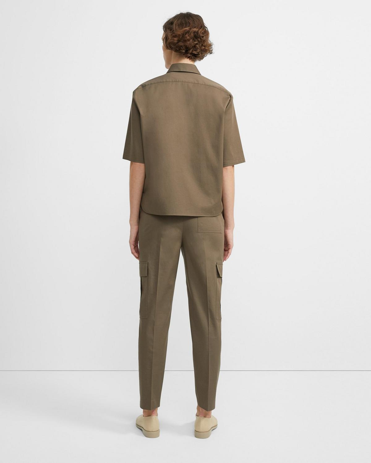 Stretch Chino Short-Sleeve Classic Shirt 0 - click to view larger image