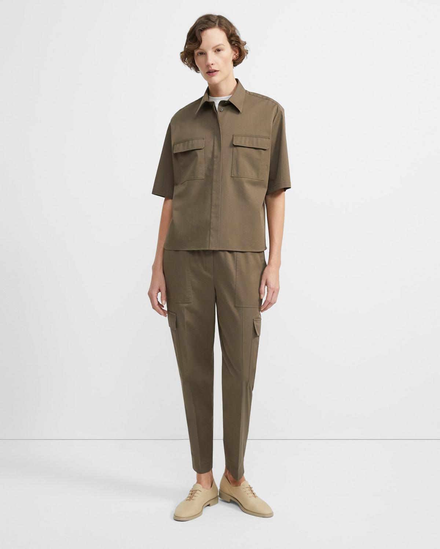 Stretch Chino Short-Sleeve Classic Shirt