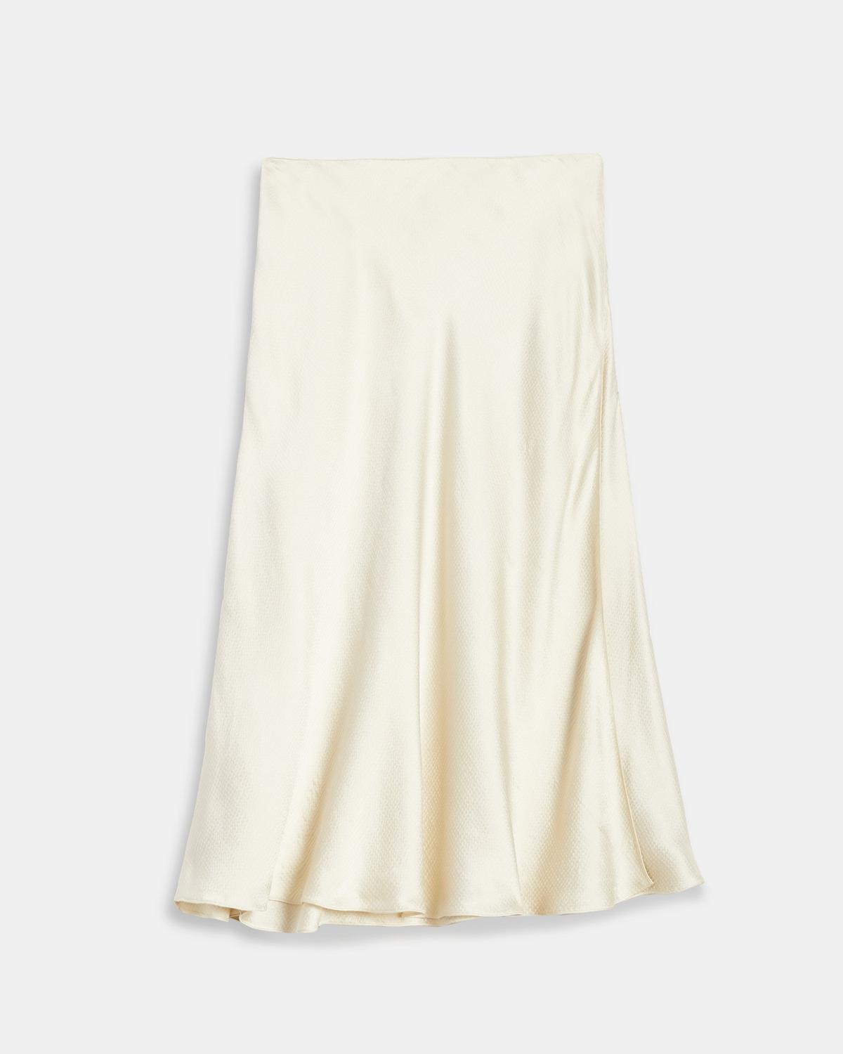 Hammered Viscose Faux Wrap Skirt