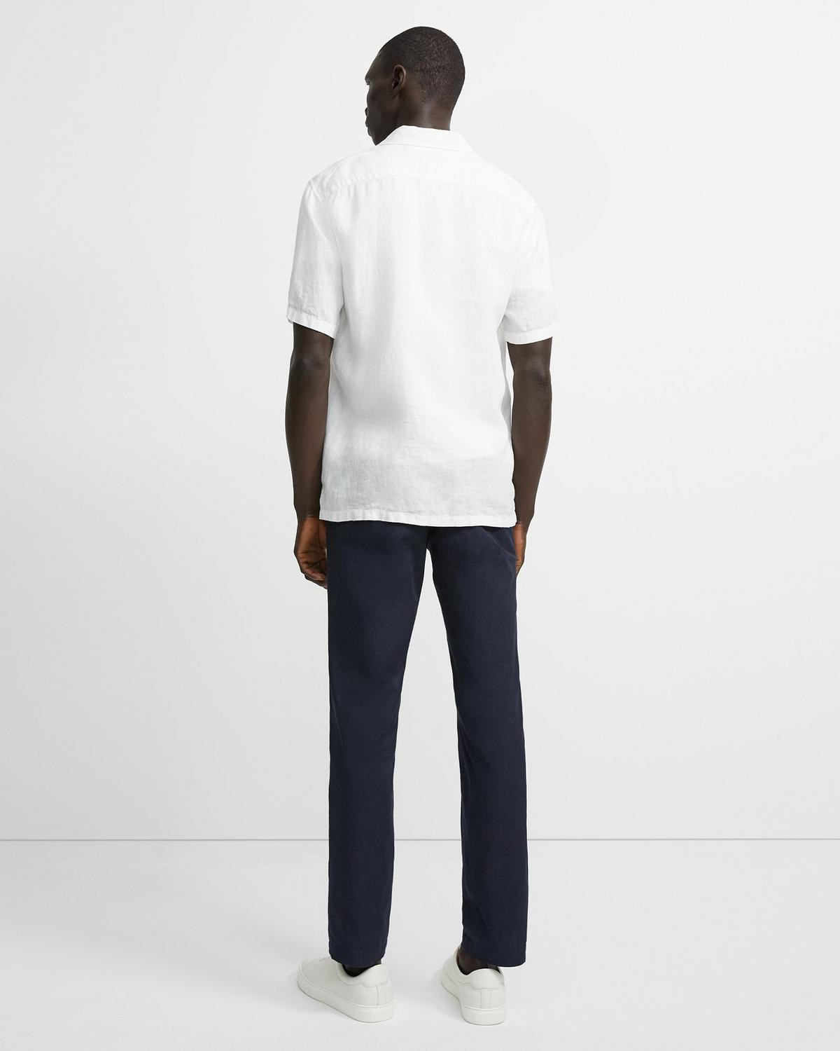 Irving Short-Sleeve Shirt in Summer Linen