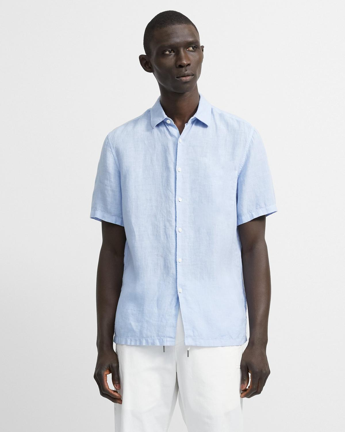 Summer Linen Short-Sleeve Irving Shirt