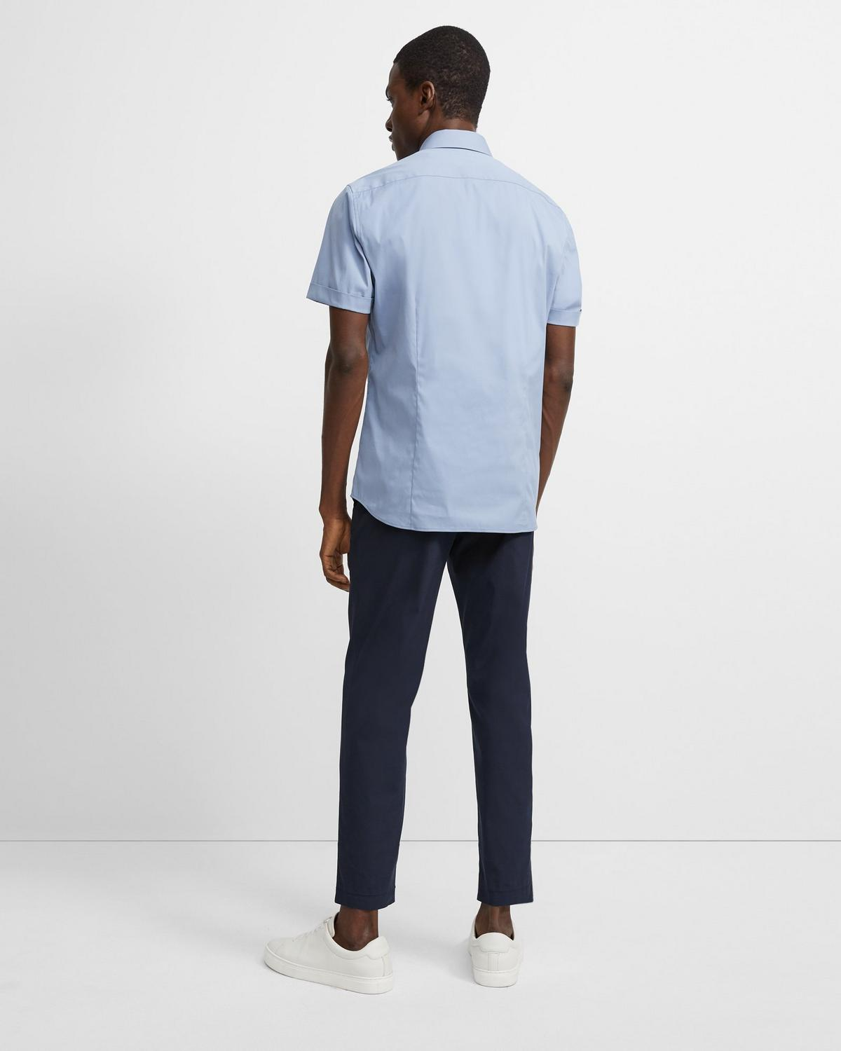 Sylvain Short-Sleeve Shirt in Stretch Cotton