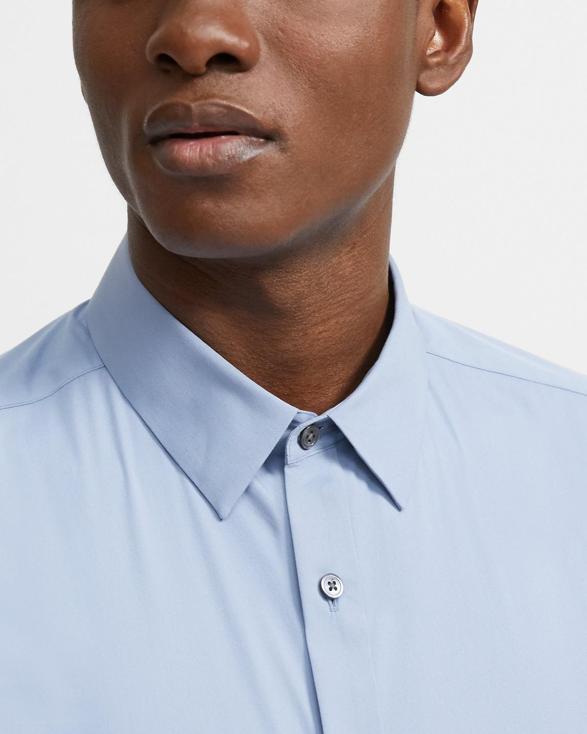Stretch Cotton Short-Sleeve Shirt