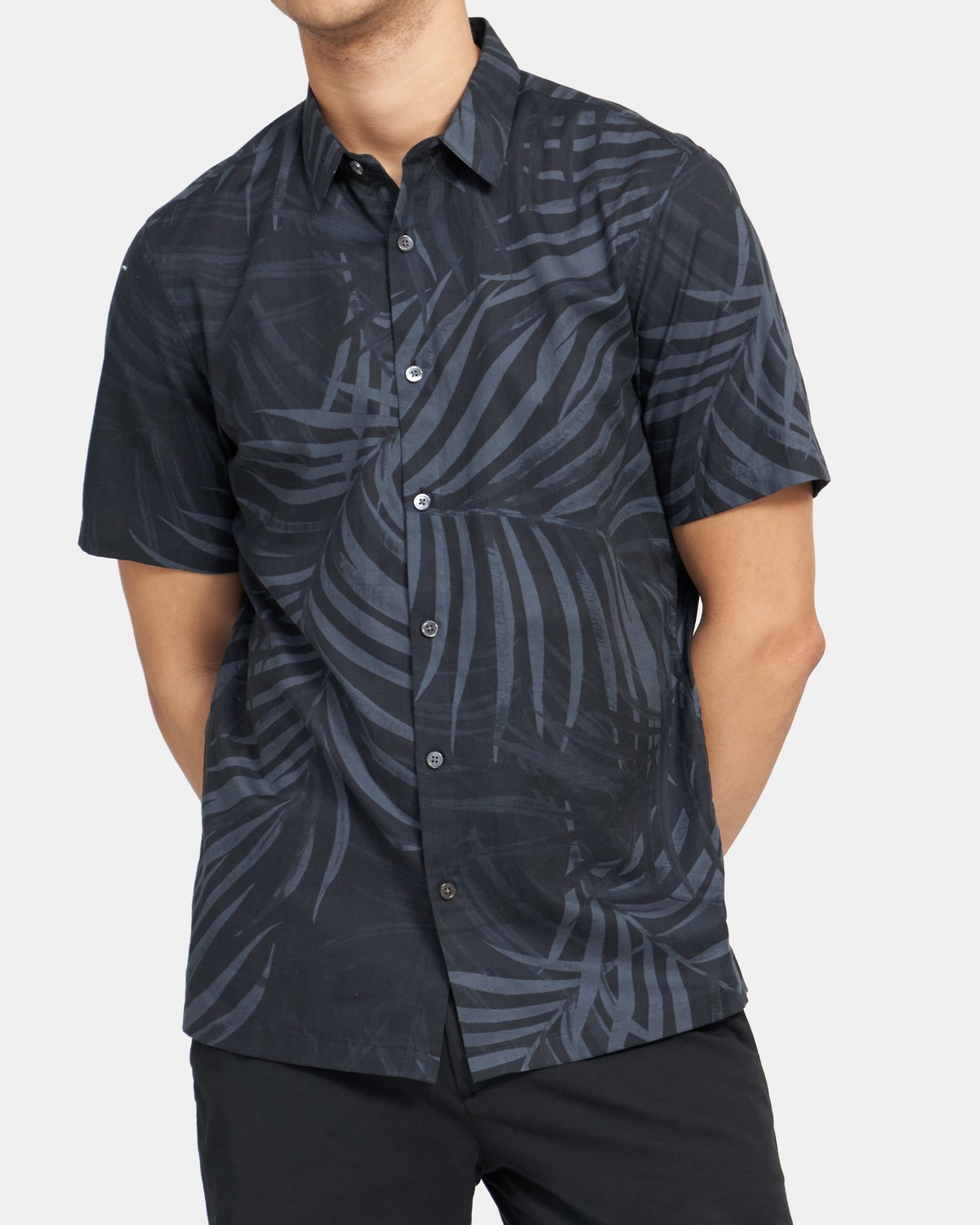 Standard-Fit Short-Sleeve Shirt in Stretch Cotton
