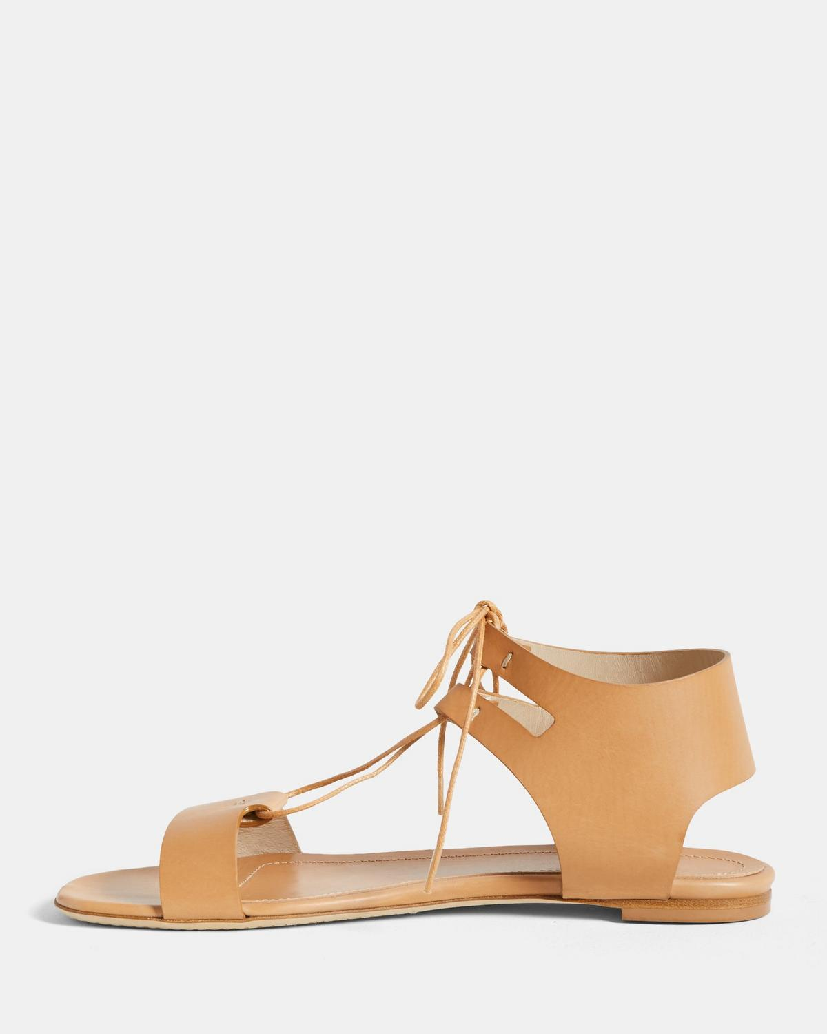 Laced Sandal in Leather