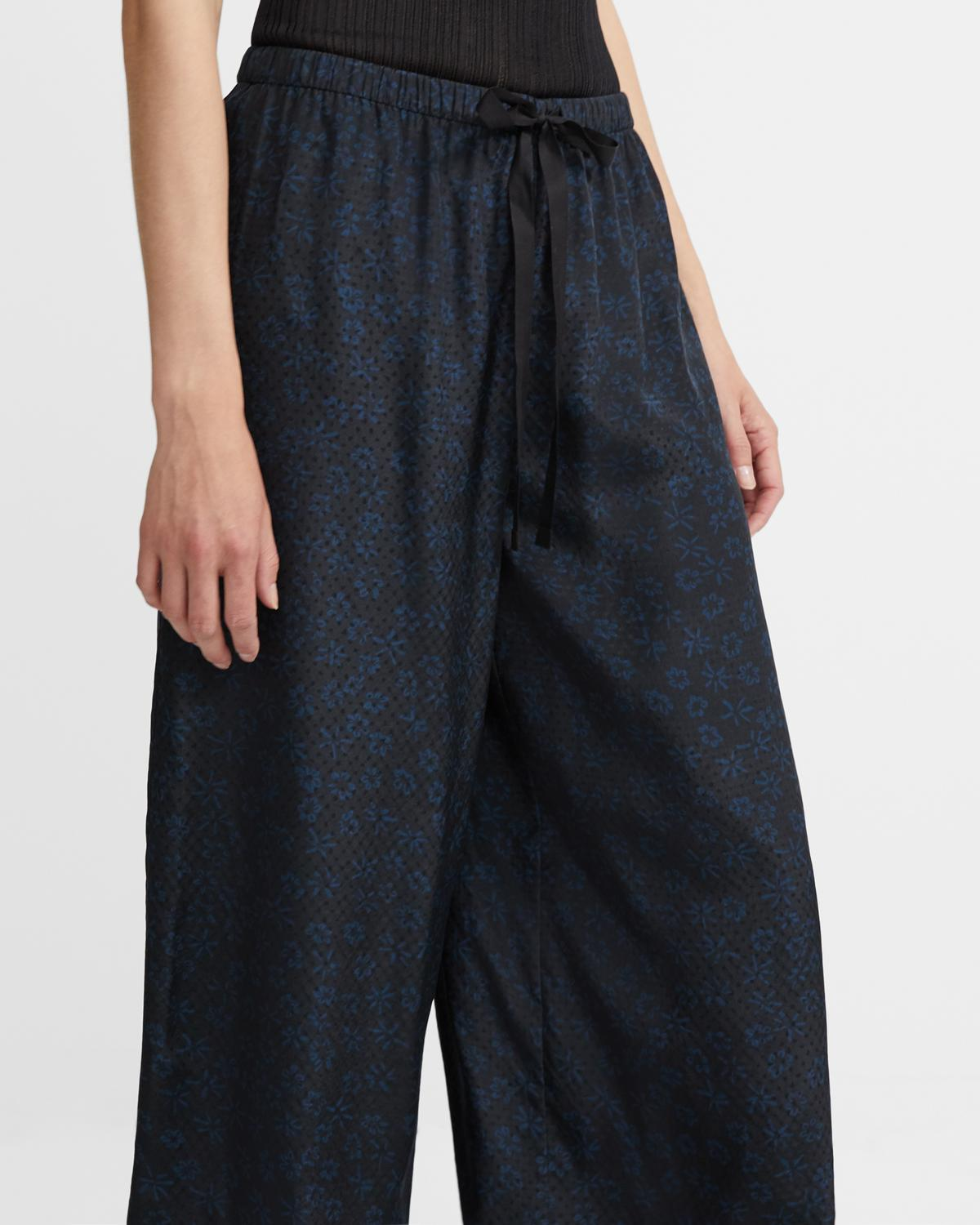 Fluid Pull-On Pant in Floral Silk