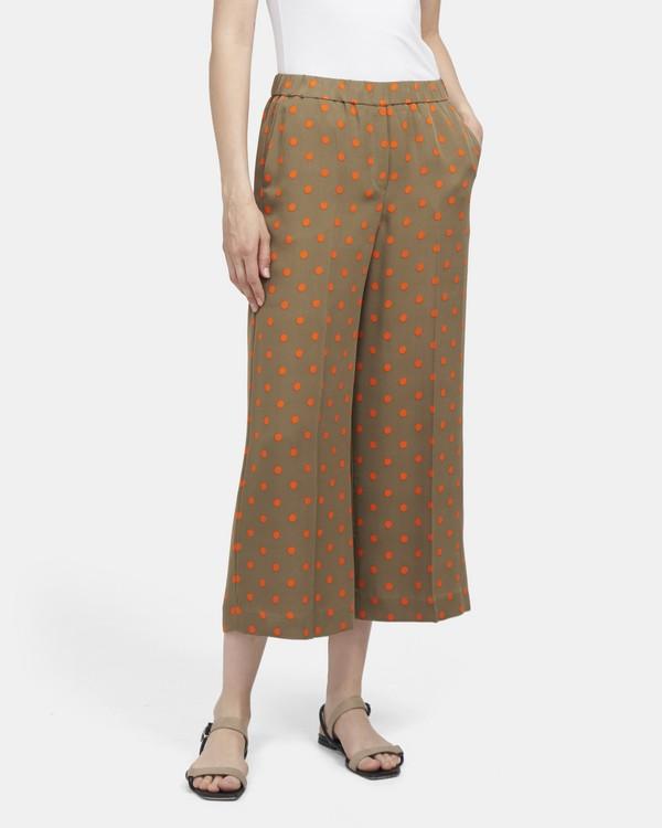 d43327705e4f Neon Polka Dot Wide-Leg Pant