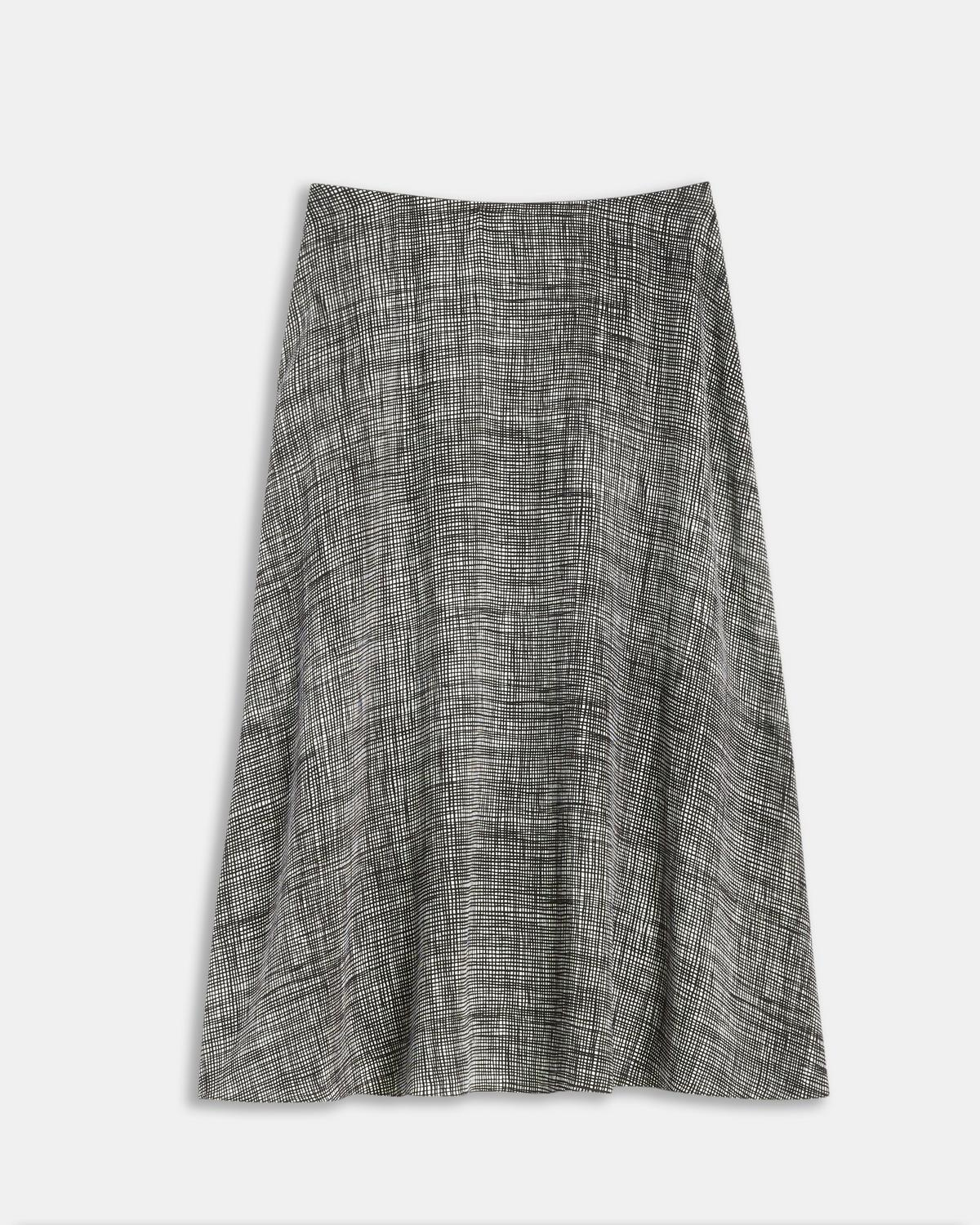 Crosshatch Silk Volume Skirt