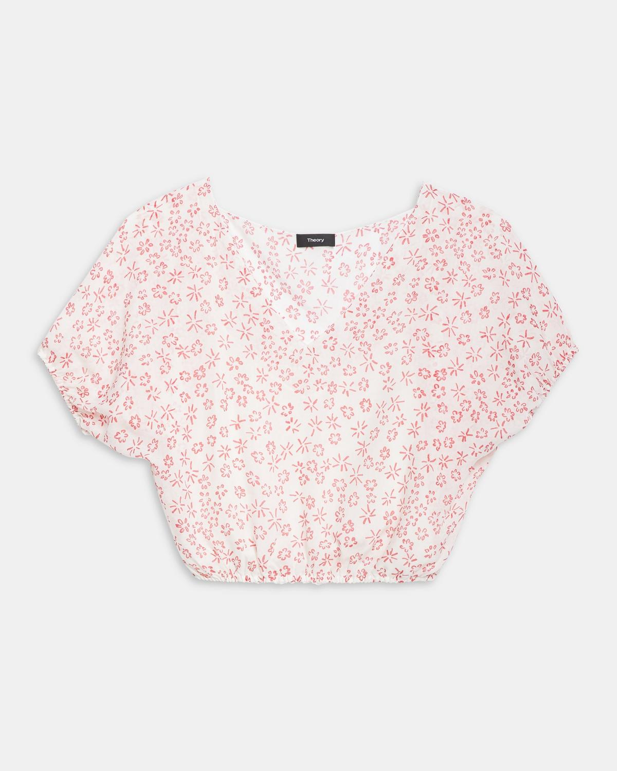 Flower-Print Balloon Top