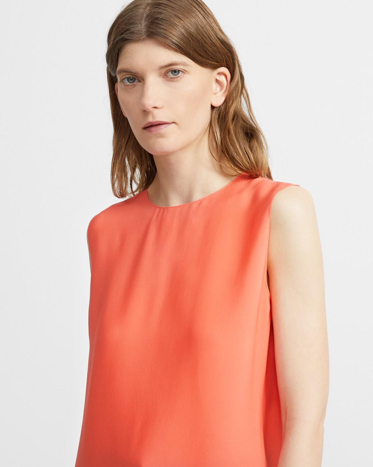 Shell Top in Neon Silk