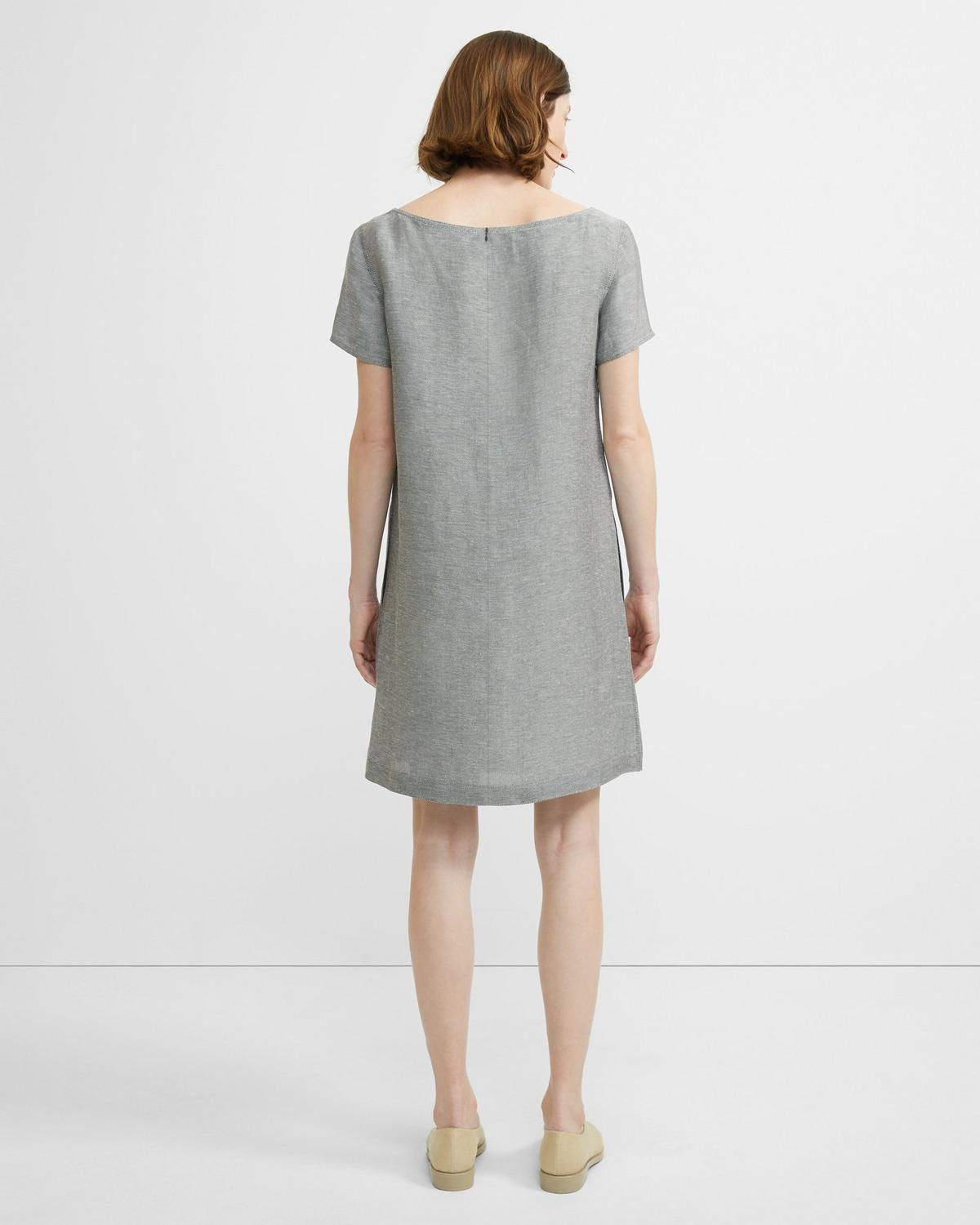 Linen Twill Structured Dress