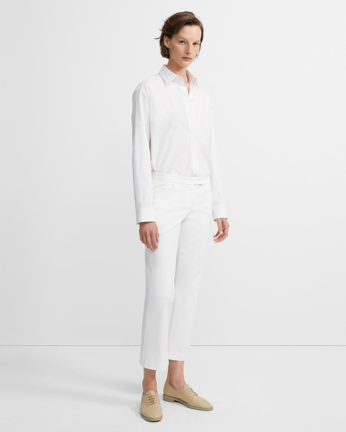 Cropped Pant in Double Stretch Cotton