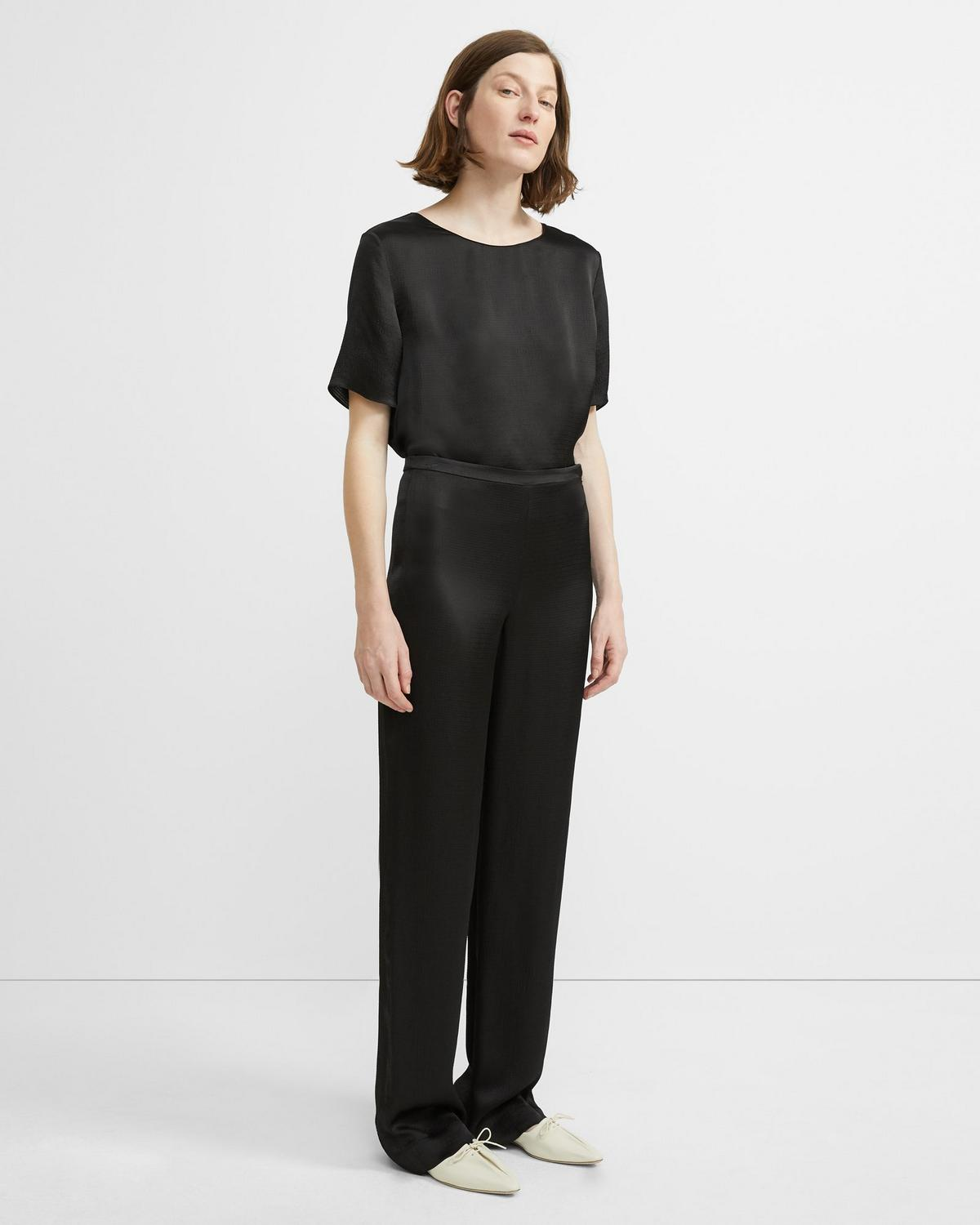 Hammered Viscose Pajama Trouser