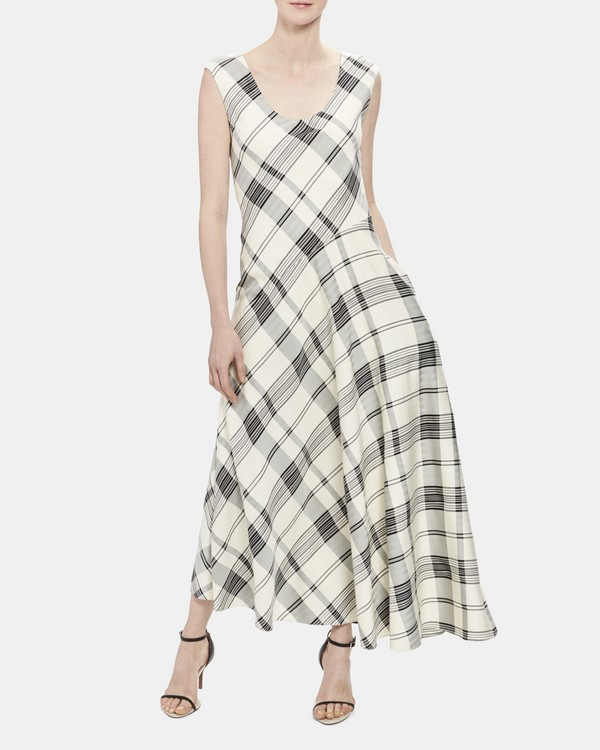 c574d5be63467 Plaid Asymmetric Tango Dress