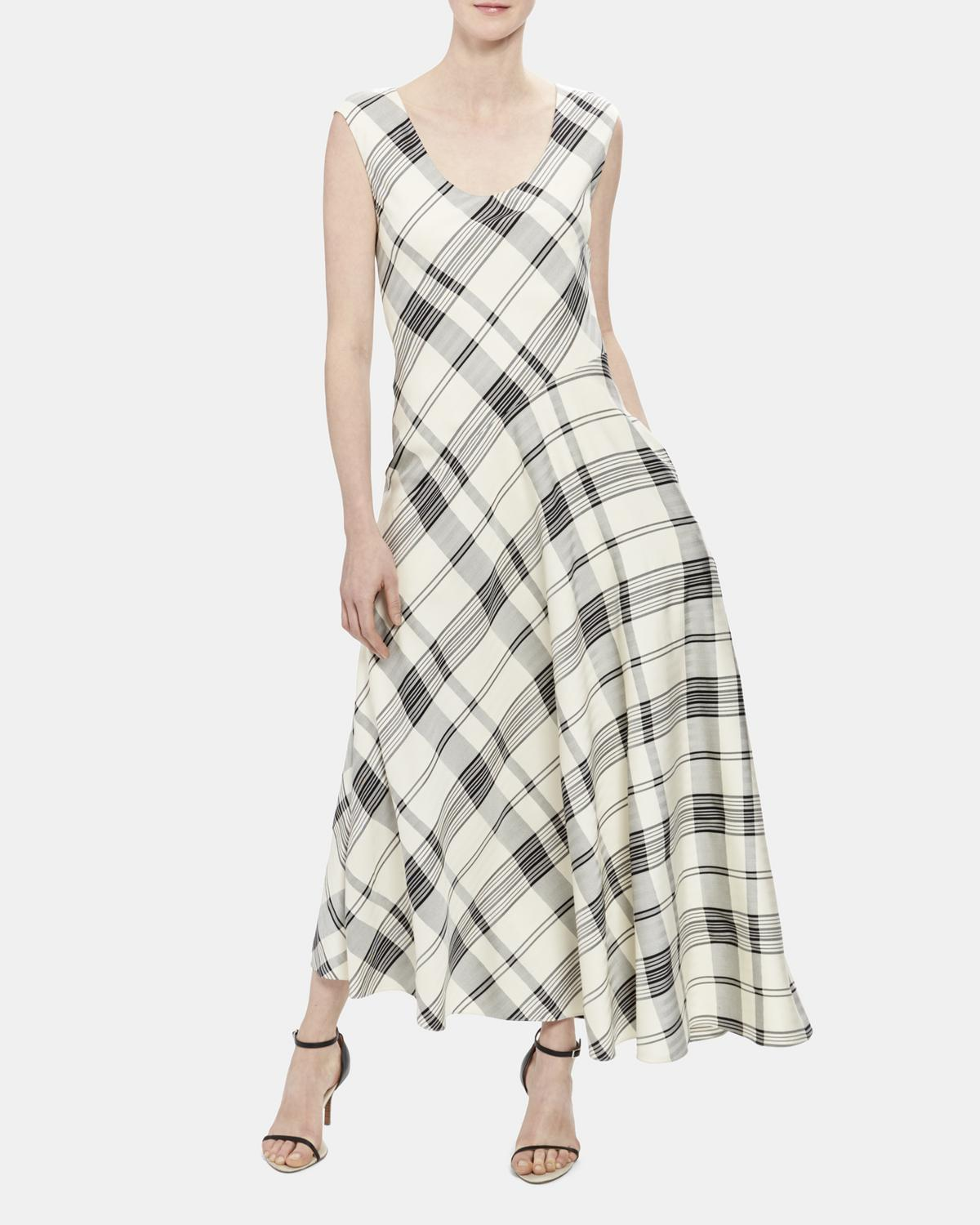 Plaid Asymmetric Tango Dress