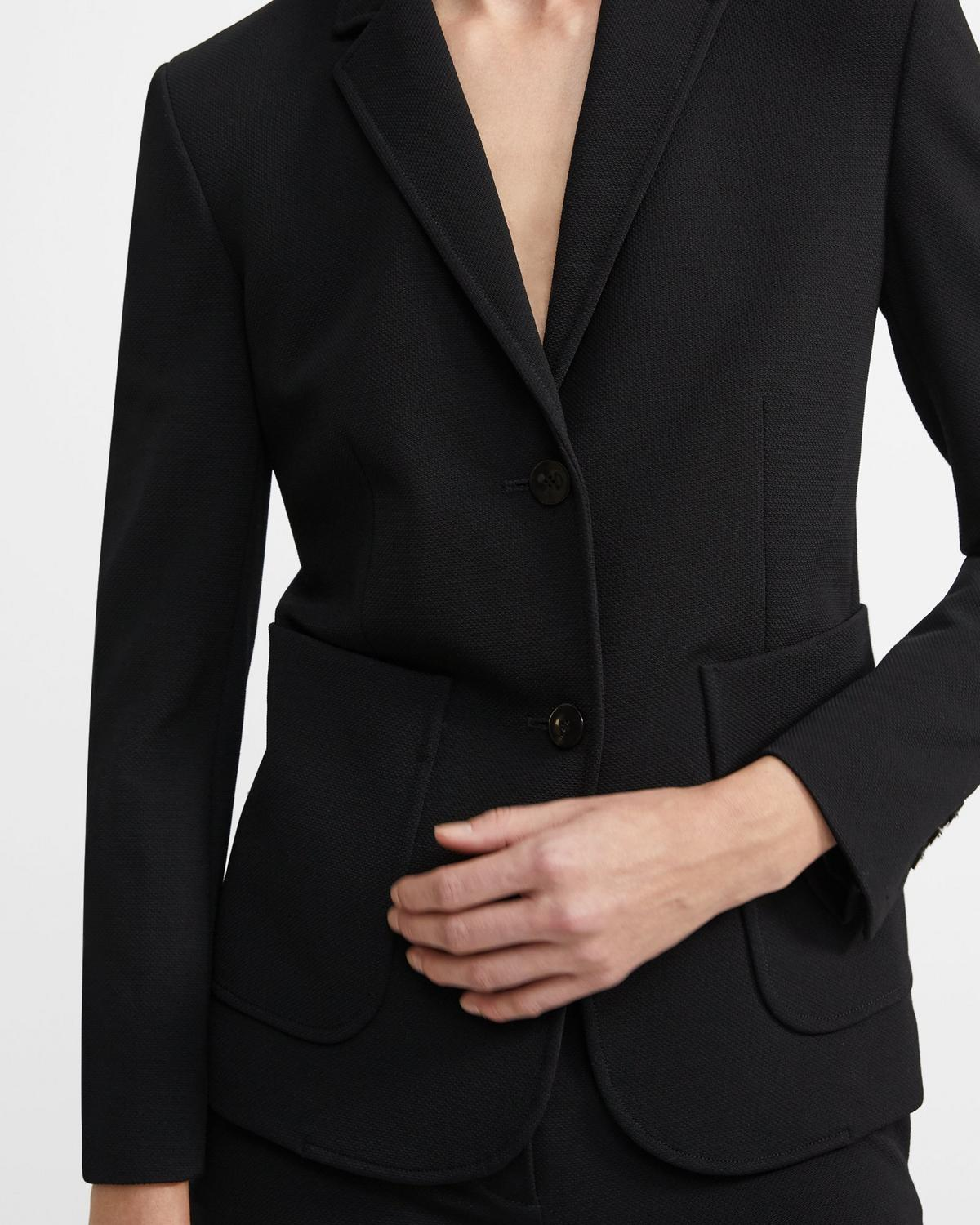 Shrunken Blazer in Stretch Viscose