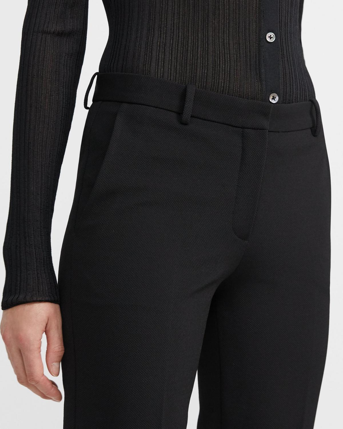 Knit Cropped Tailored Trouser