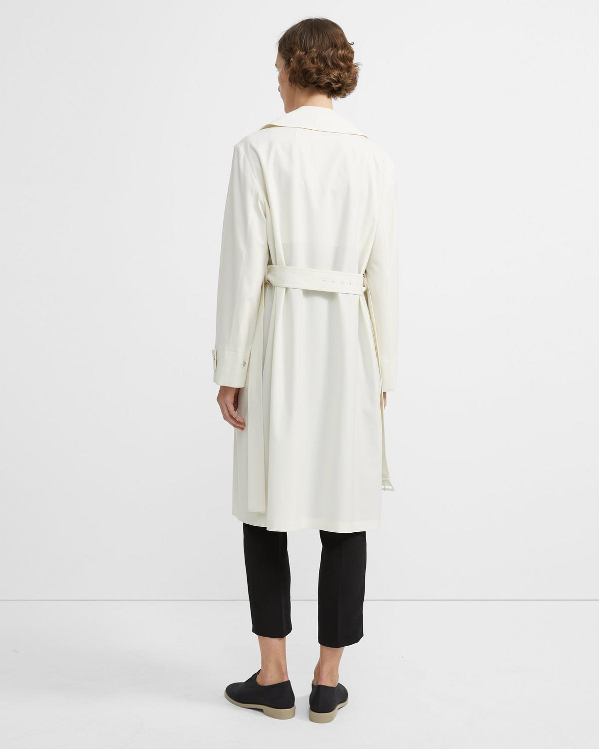 Travel Wool Military Trench