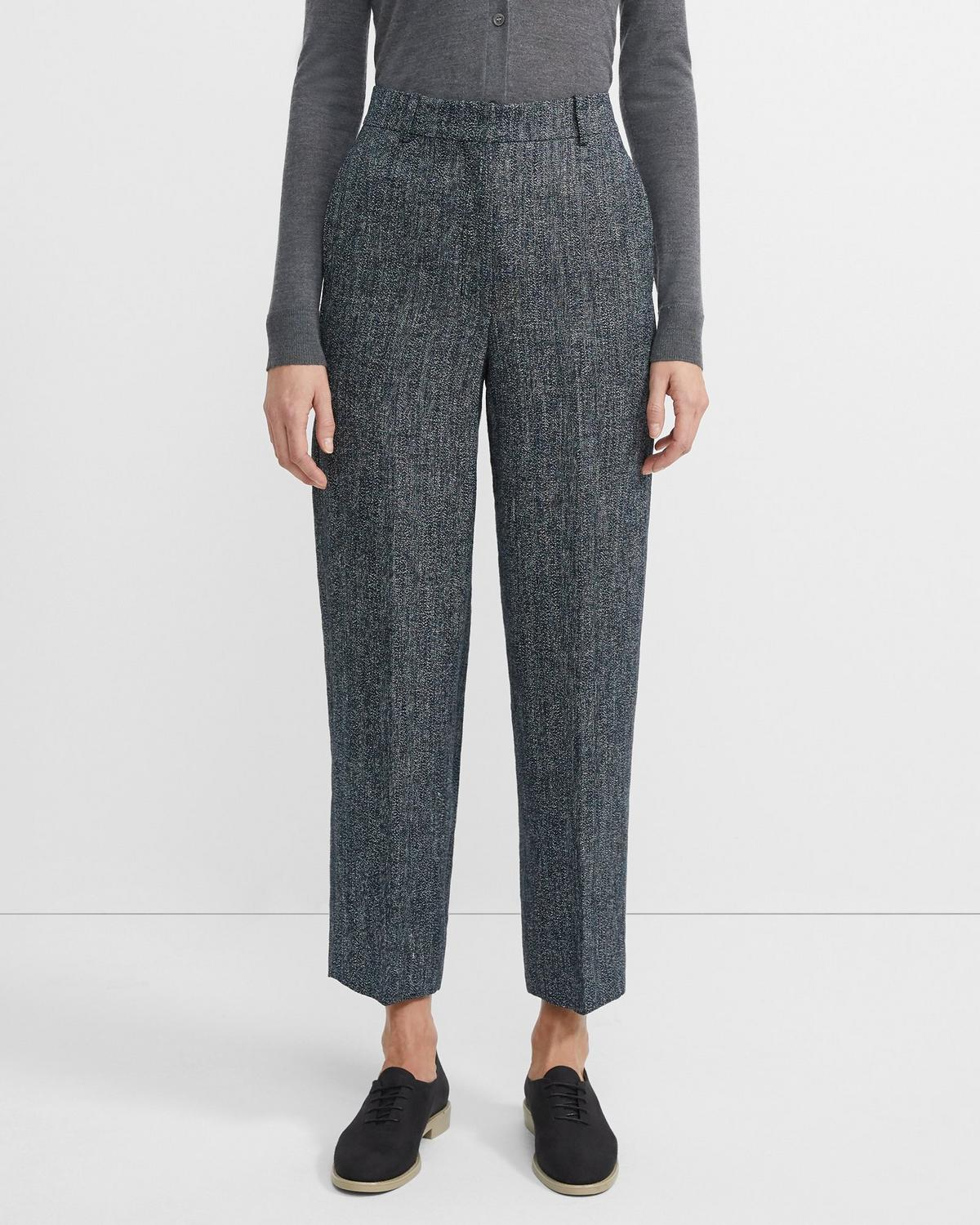 High-Waisted Straight Trouser