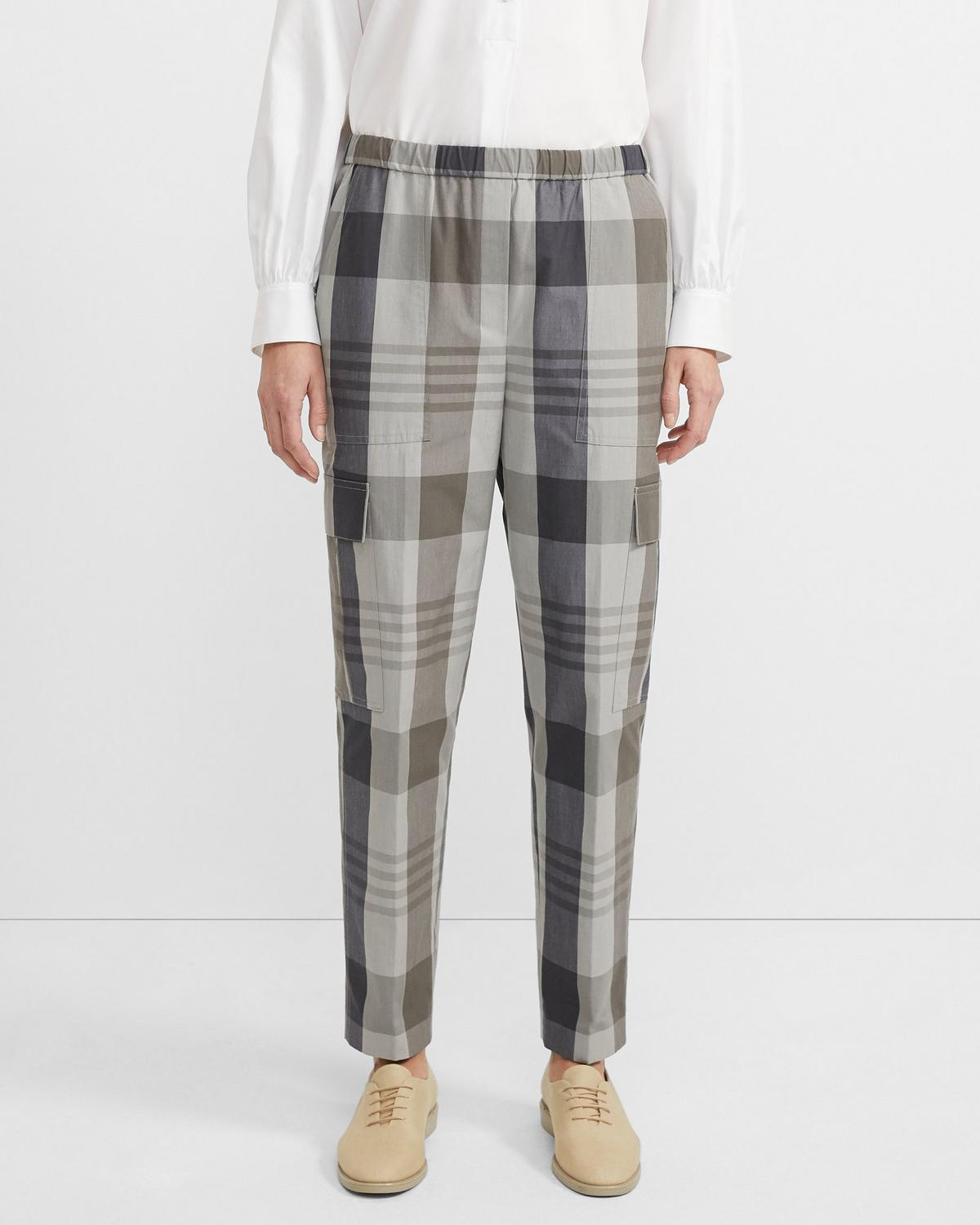 Plaid Easy Cargo Pant