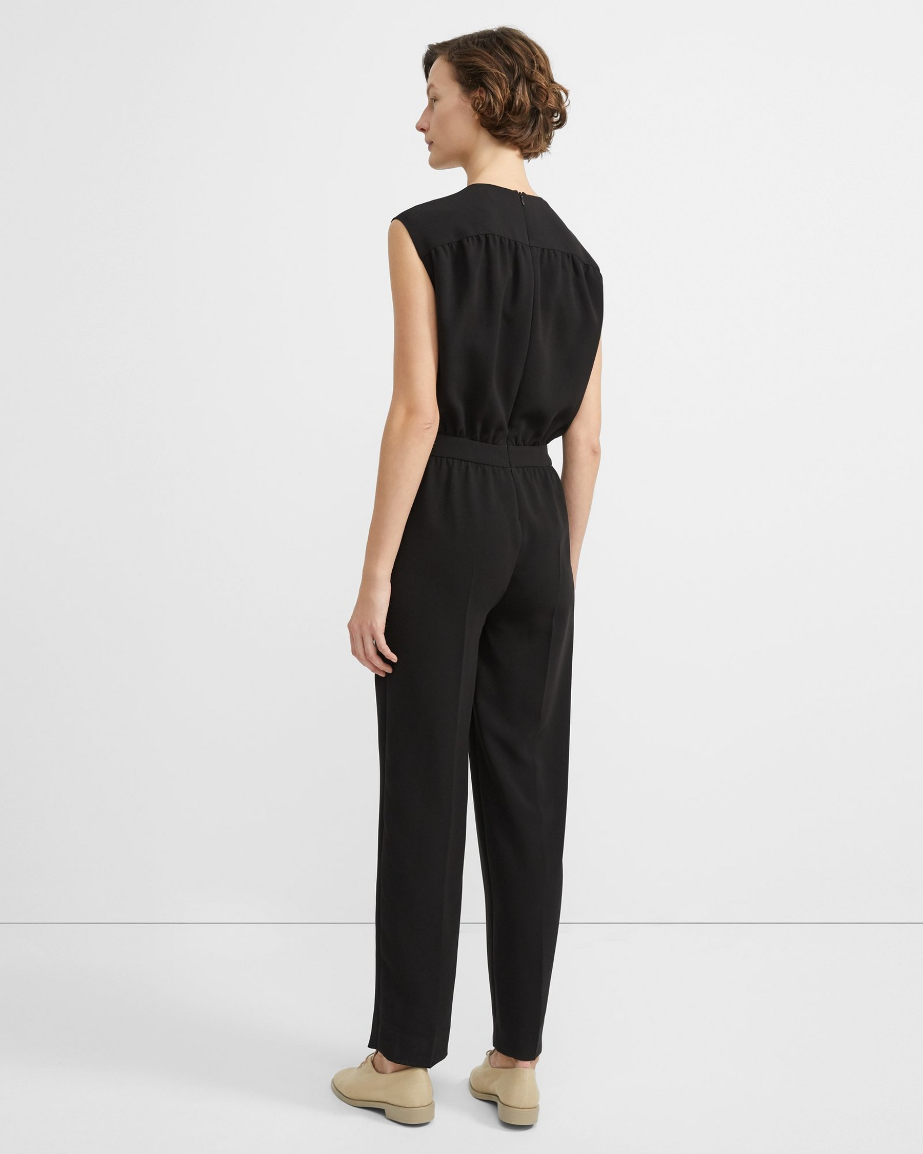SHIRRED JUMPSUIT