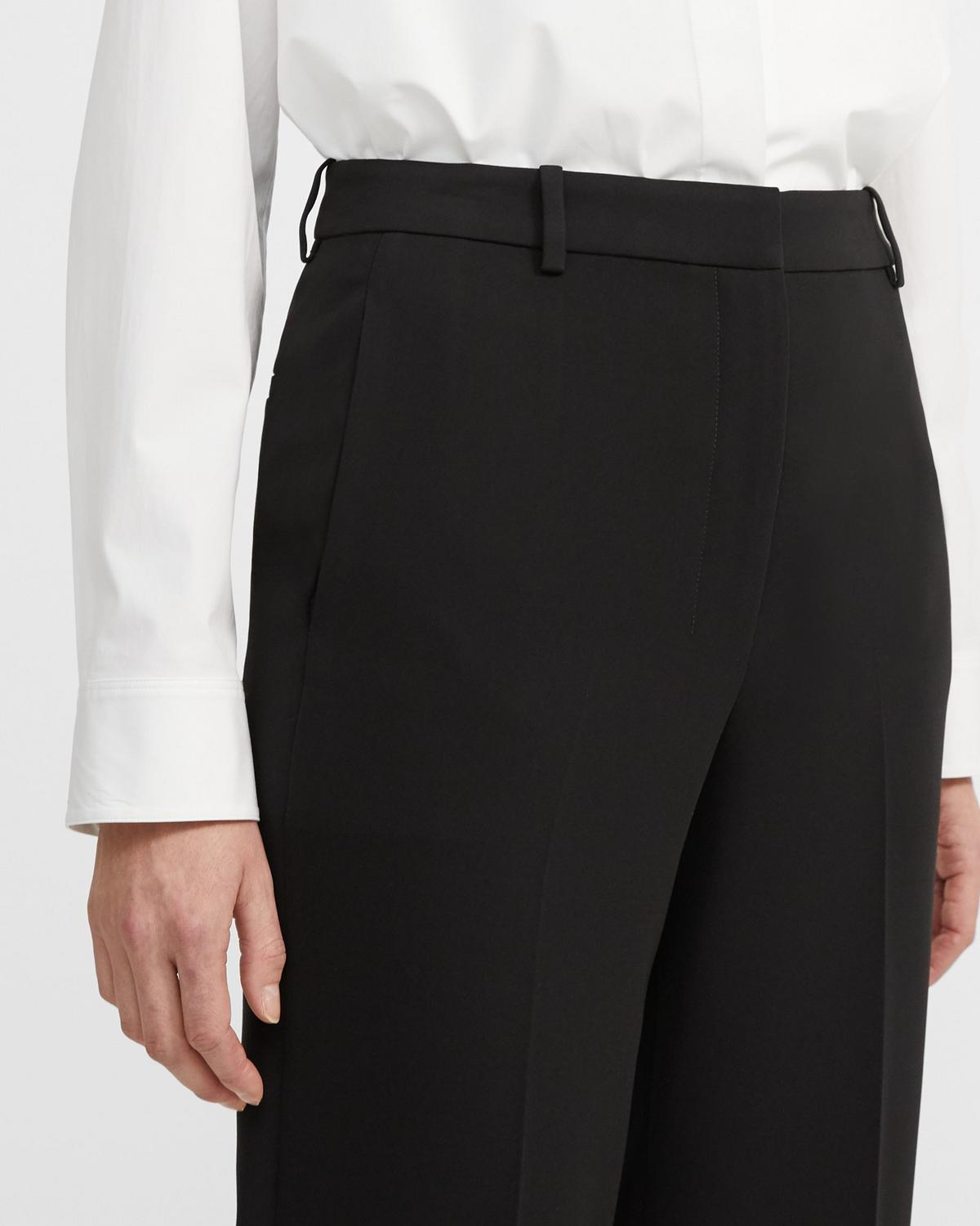 Classic Crepe High-Waisted Straight Pant