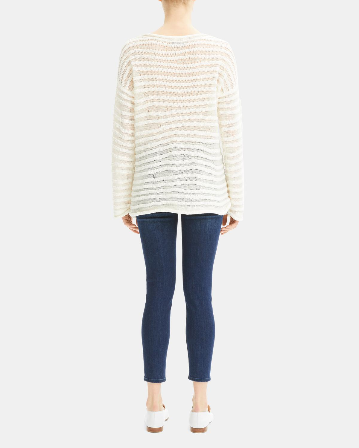 Linked Stripe Pullover