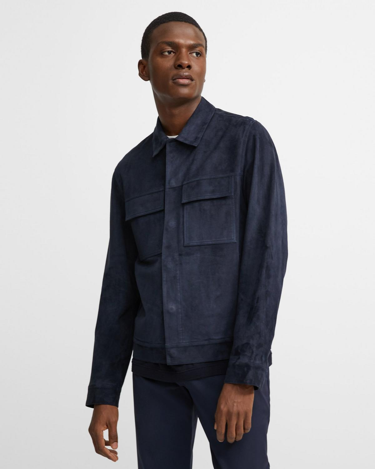 Suede Patch Pocket Blouson