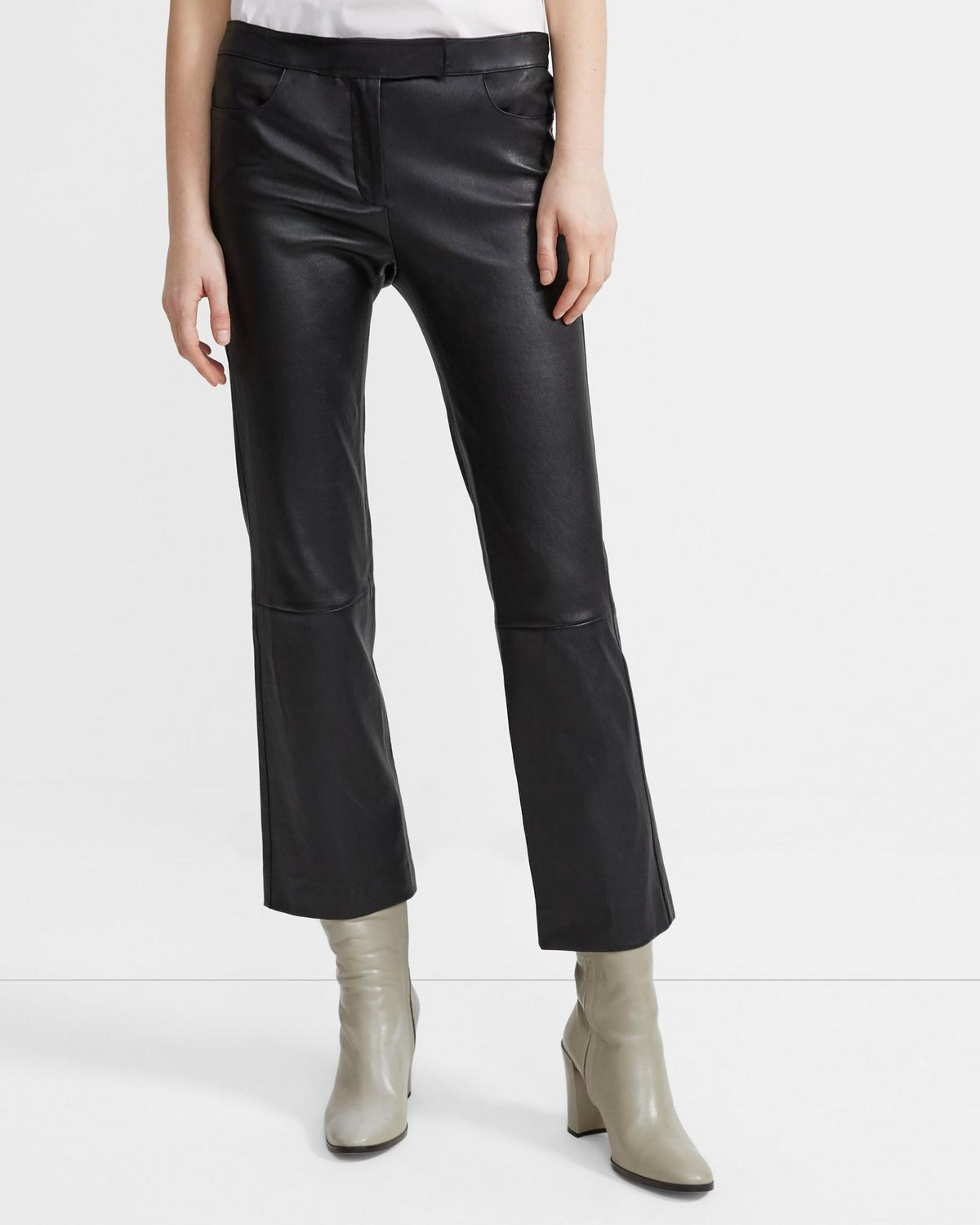Leather Crop Pant