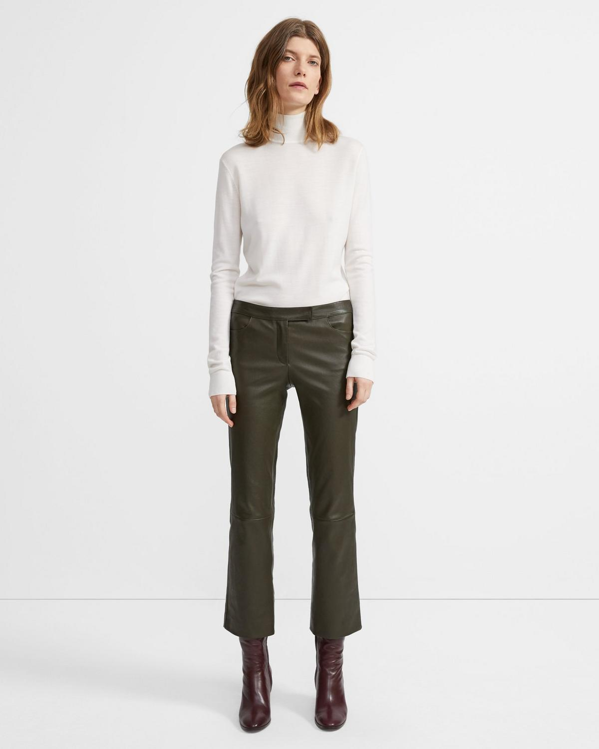 Leather Crop Trouser