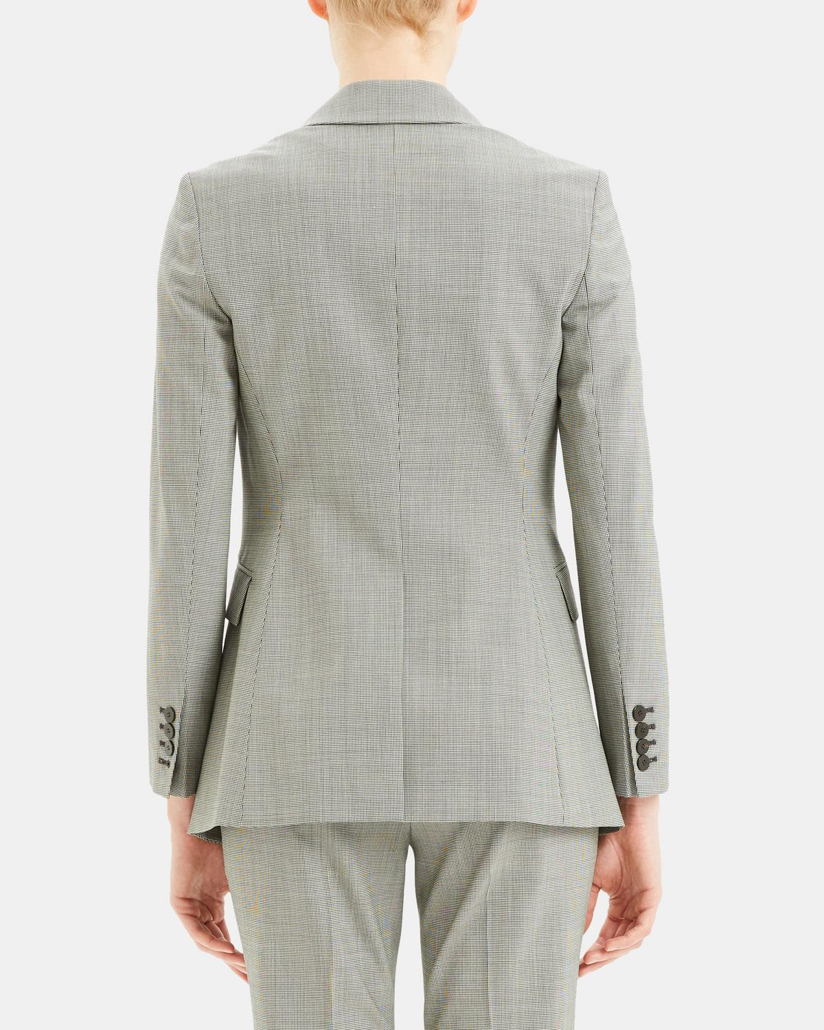 Etiennette Blazer in Houndstooth Good Wool