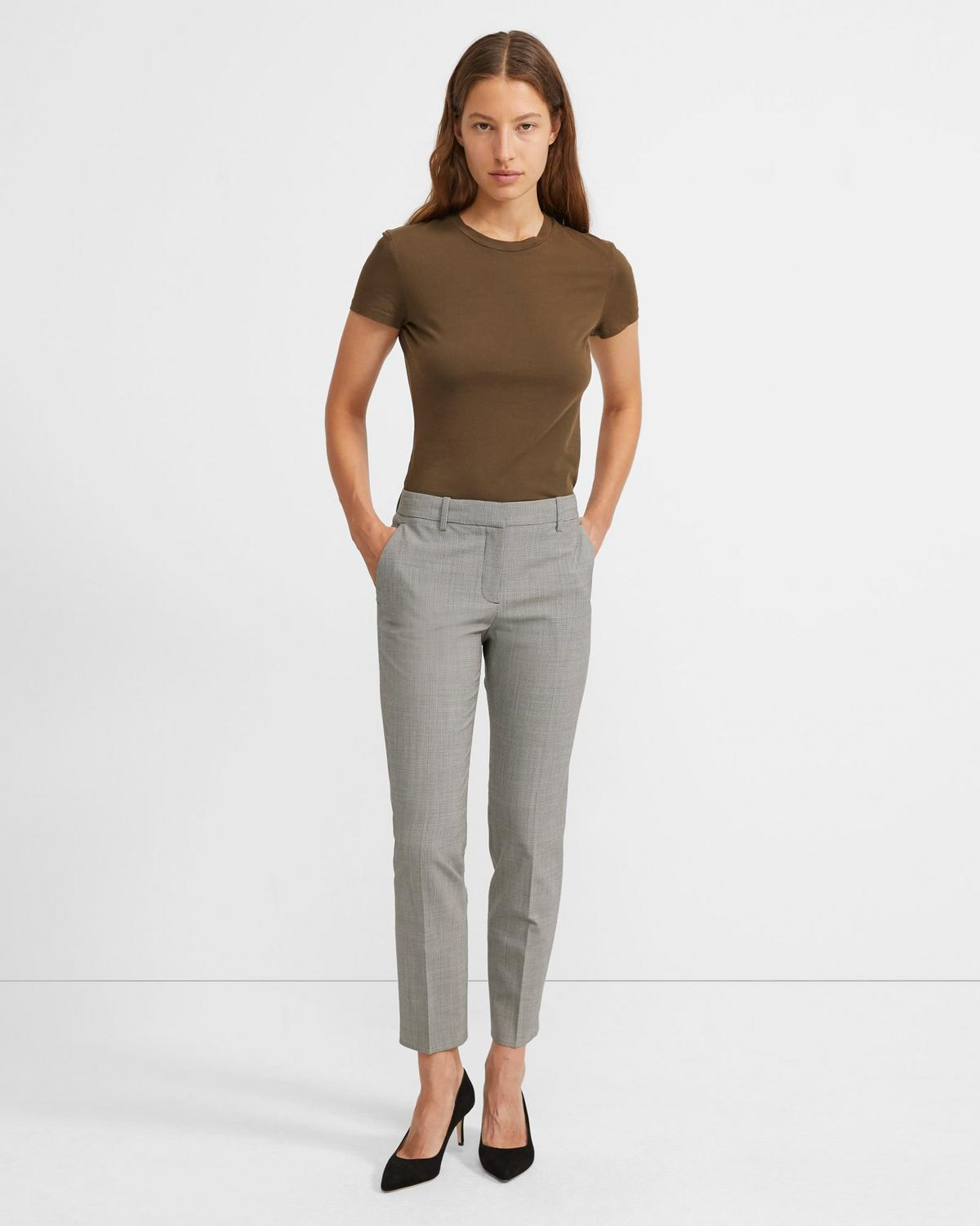 Treeca Pant in Houndstooth Good Wool