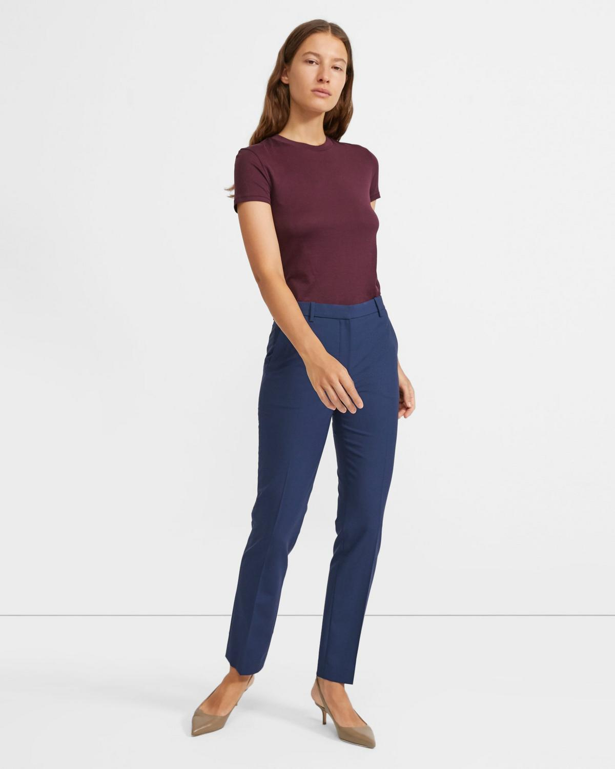 Treeca Full Length Pant in Good Wool