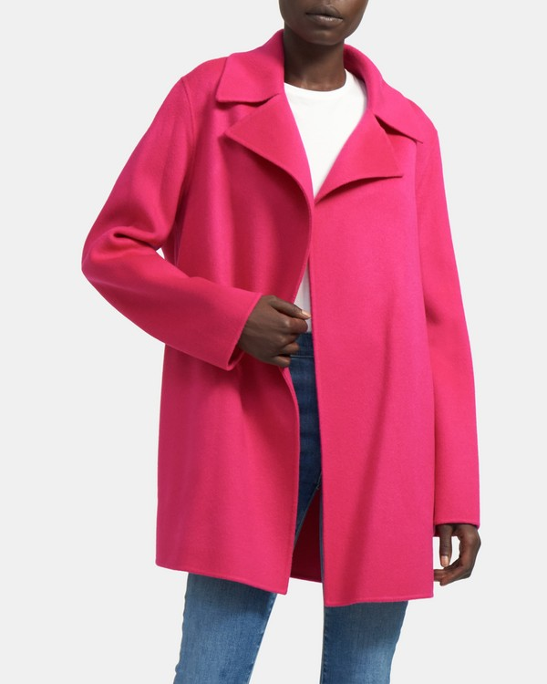 Overlay Coat in Double-Face Wool-Cashmere