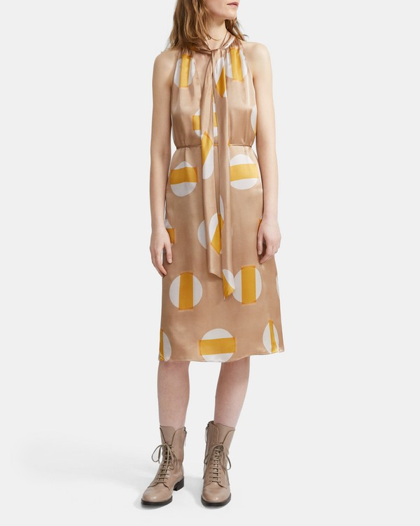 b1ce8b383 Glass Silk Halter Scarf Dress