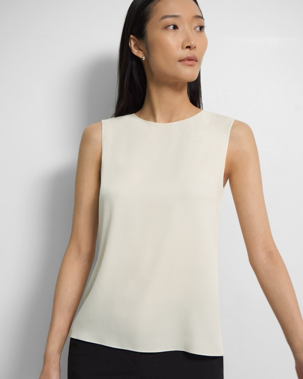 Shell Top in Stretch Silk