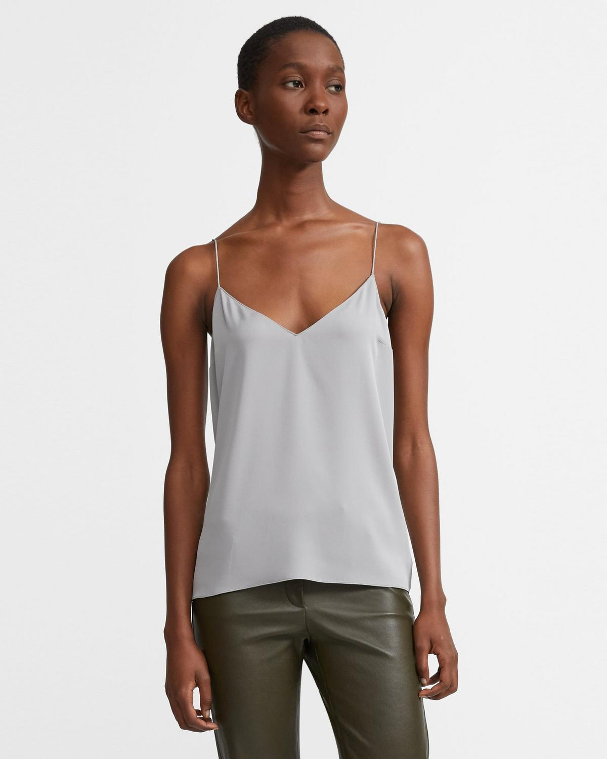 Stretch Silk Dart Slip Top