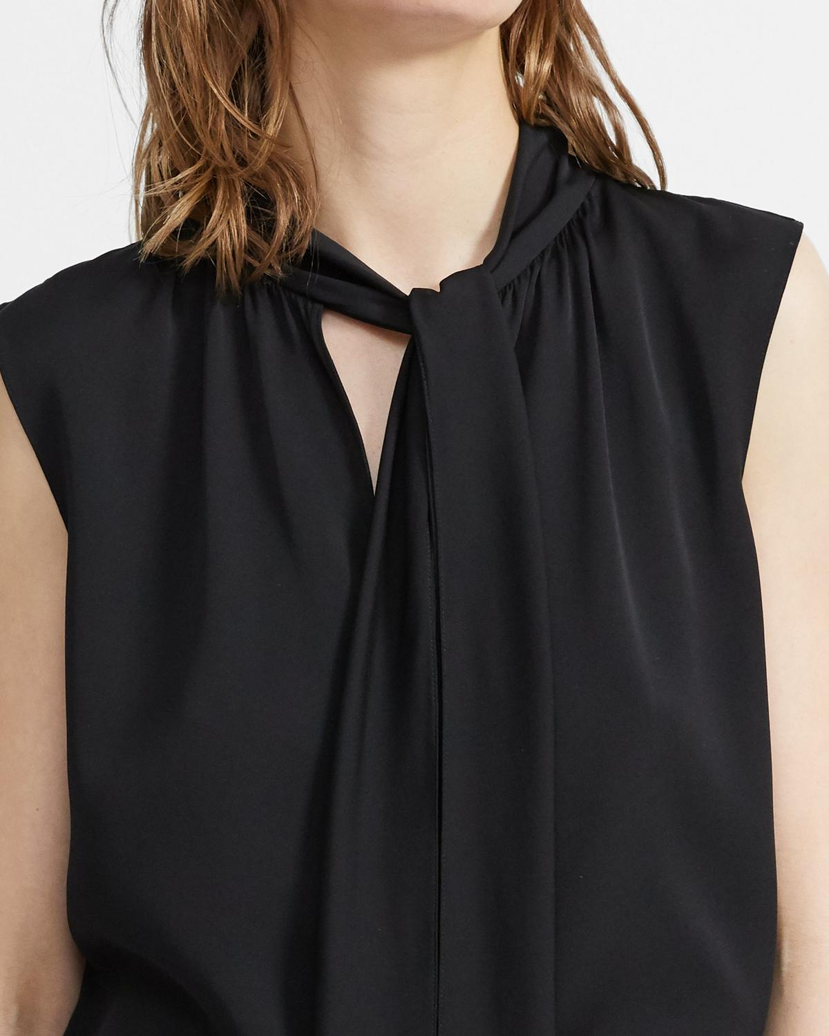 Tie Scarf Top in Stretch Silk