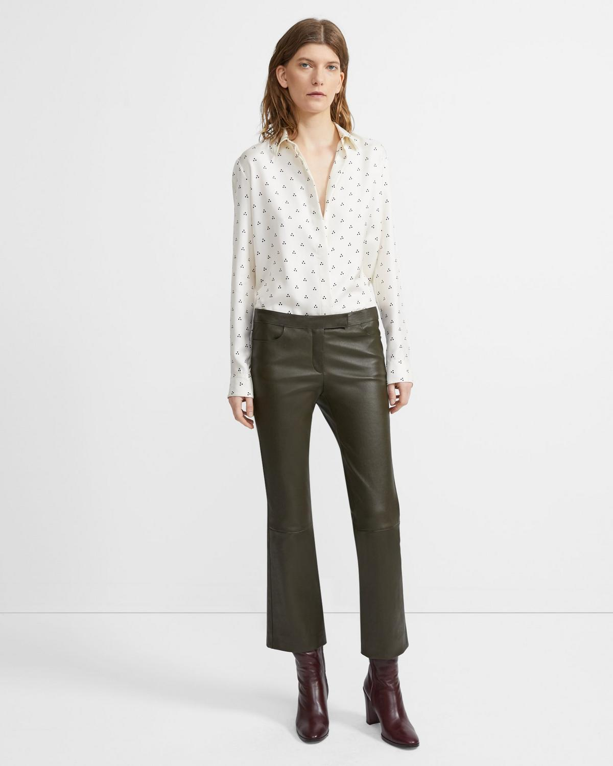 Silk Dot Straight Shirt