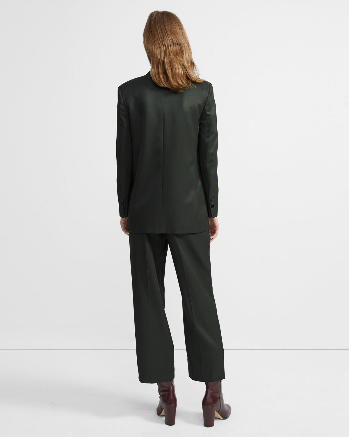 Cropped Trouser in Sleek Twill
