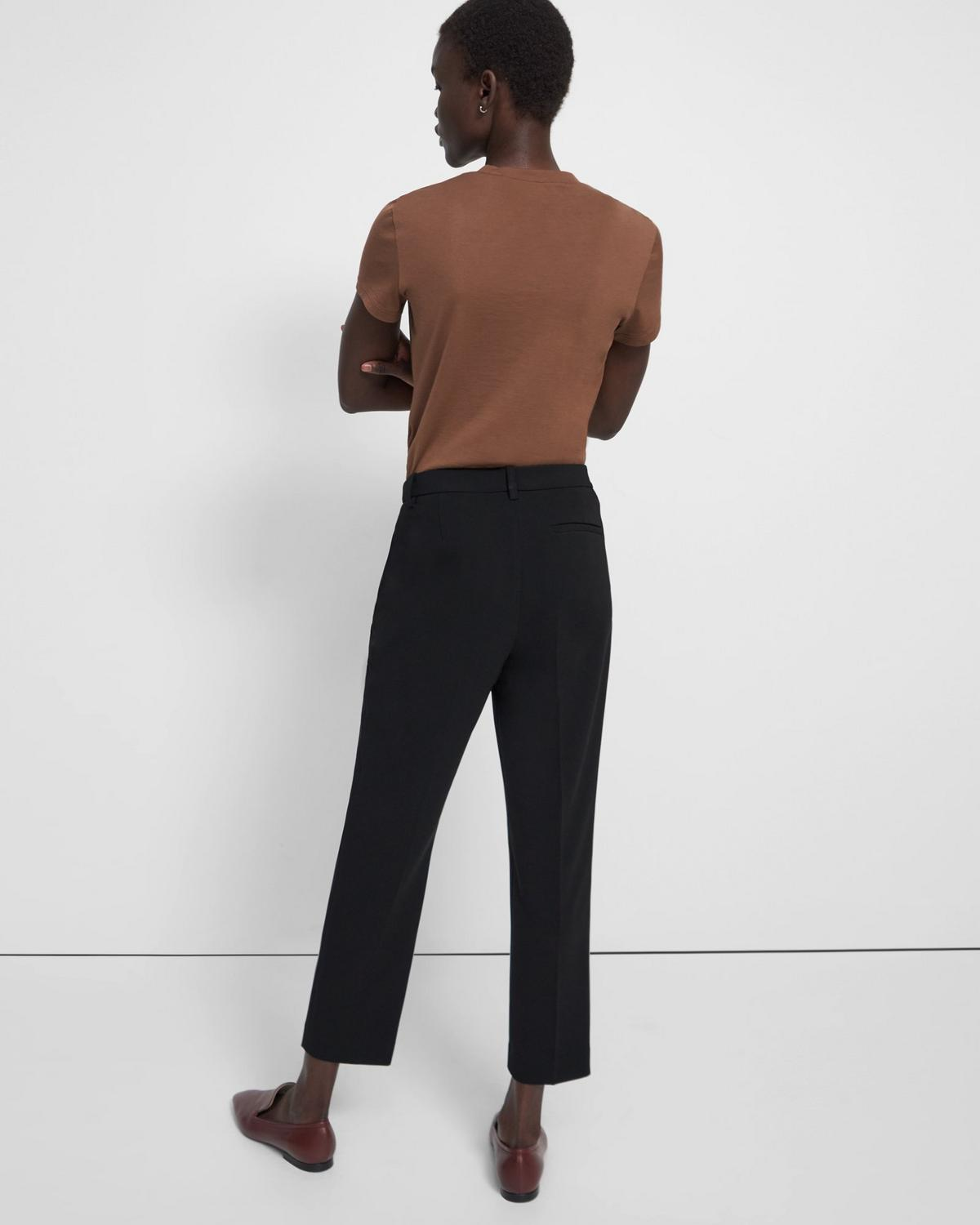Crepe Cropped Tailored Trouser