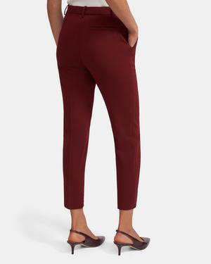 Slim Cropped Pant in Crepe