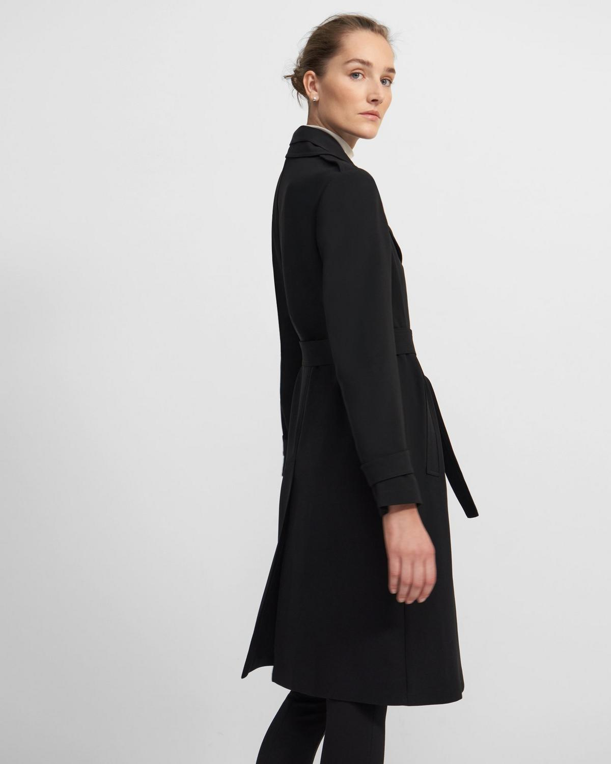 Oaklane Trench Coat in Crepe