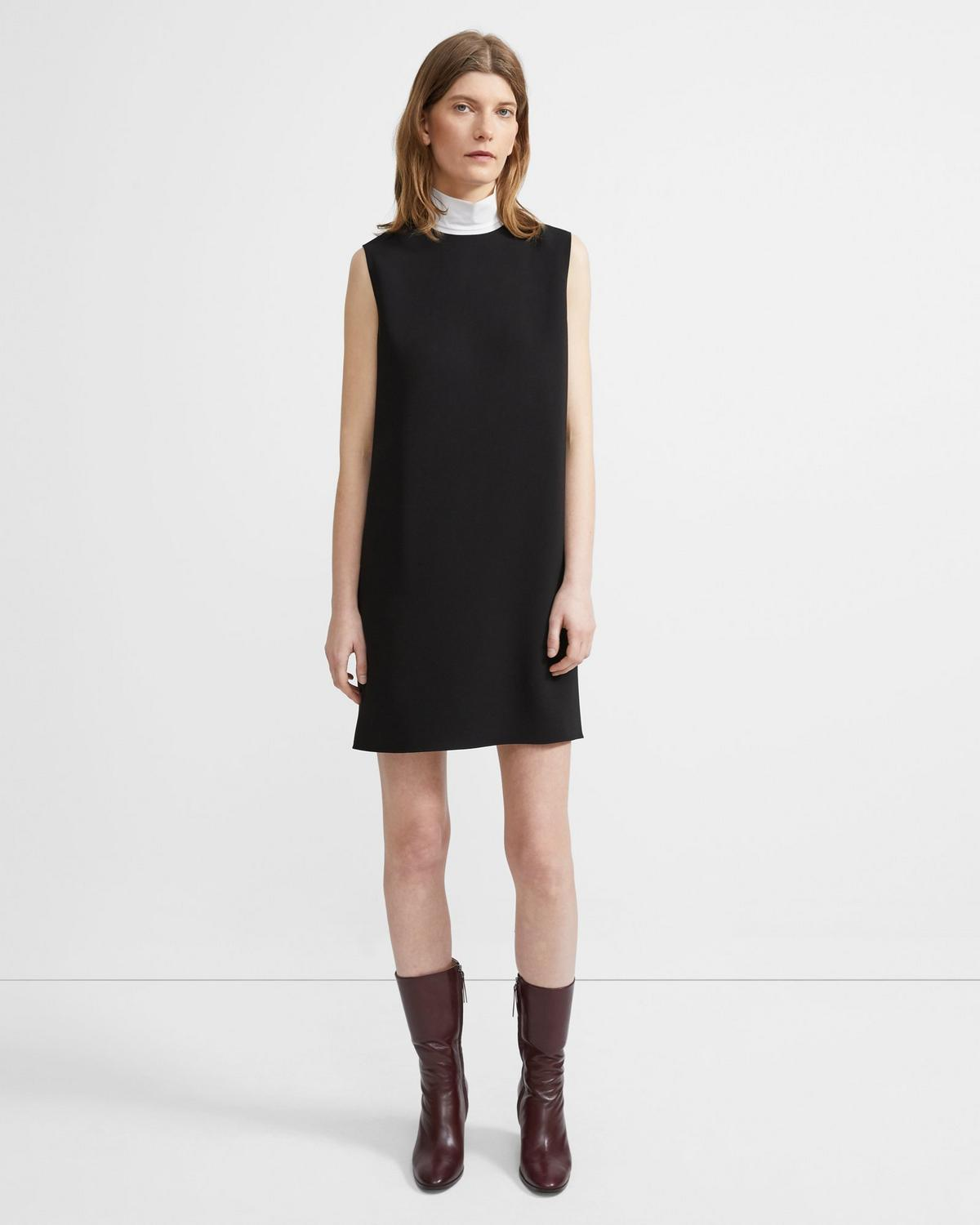 Crepe Column Dress