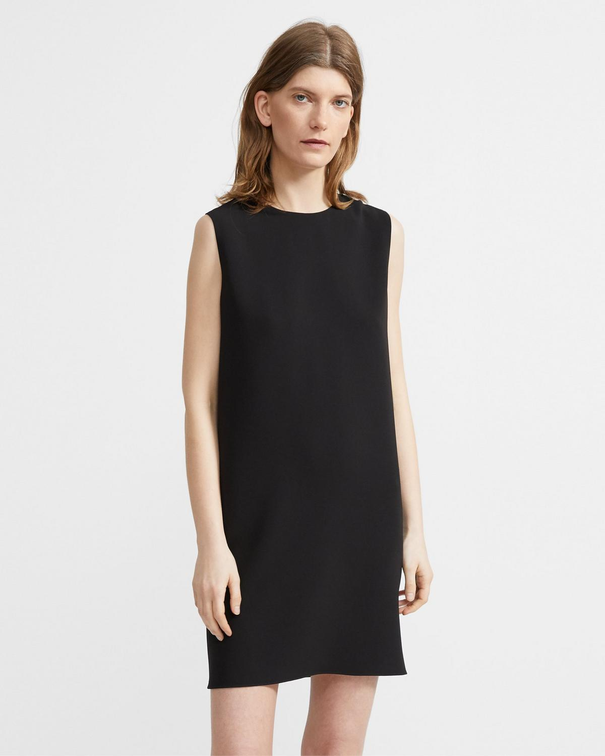Column Dress in Crepe