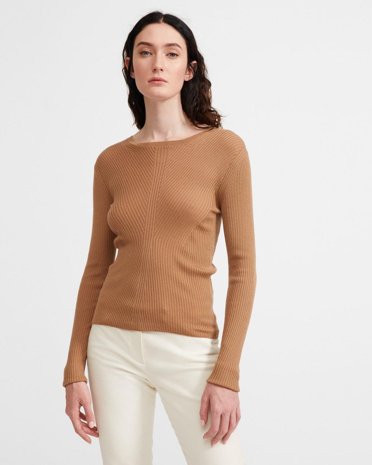 Moving Rib Crewneck Sweater
