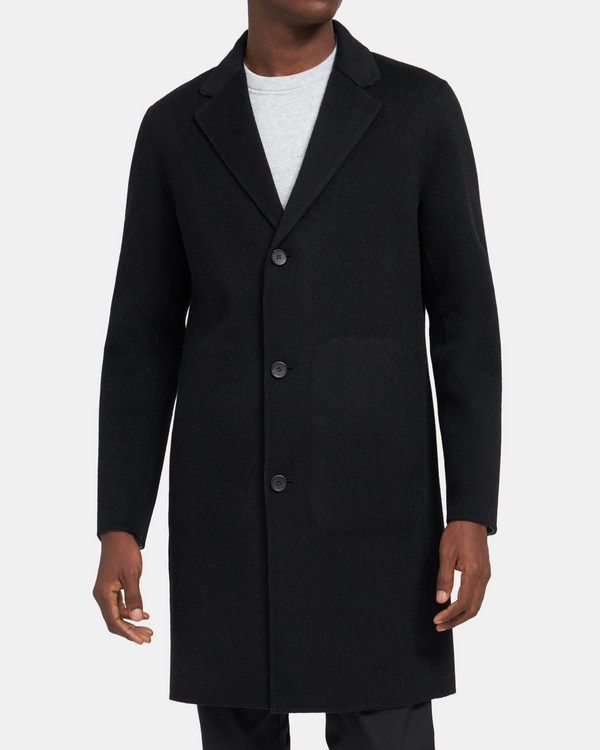 띠어리 맨 더블 페이스 울캐시미어 코트 - 블랙 Theory Tailored Coat In Double-Face Wool-Cashmere,BLACK/DARK GREY MEL J071401R