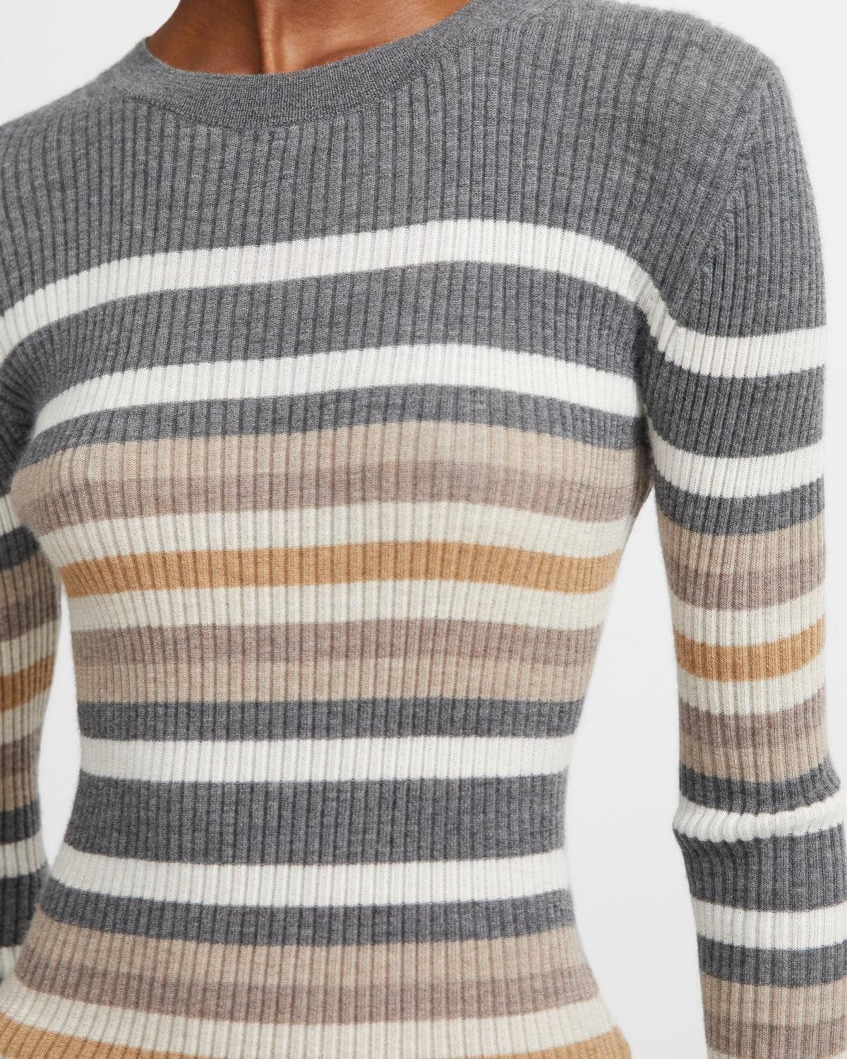 Striped Cashmere Crewneck