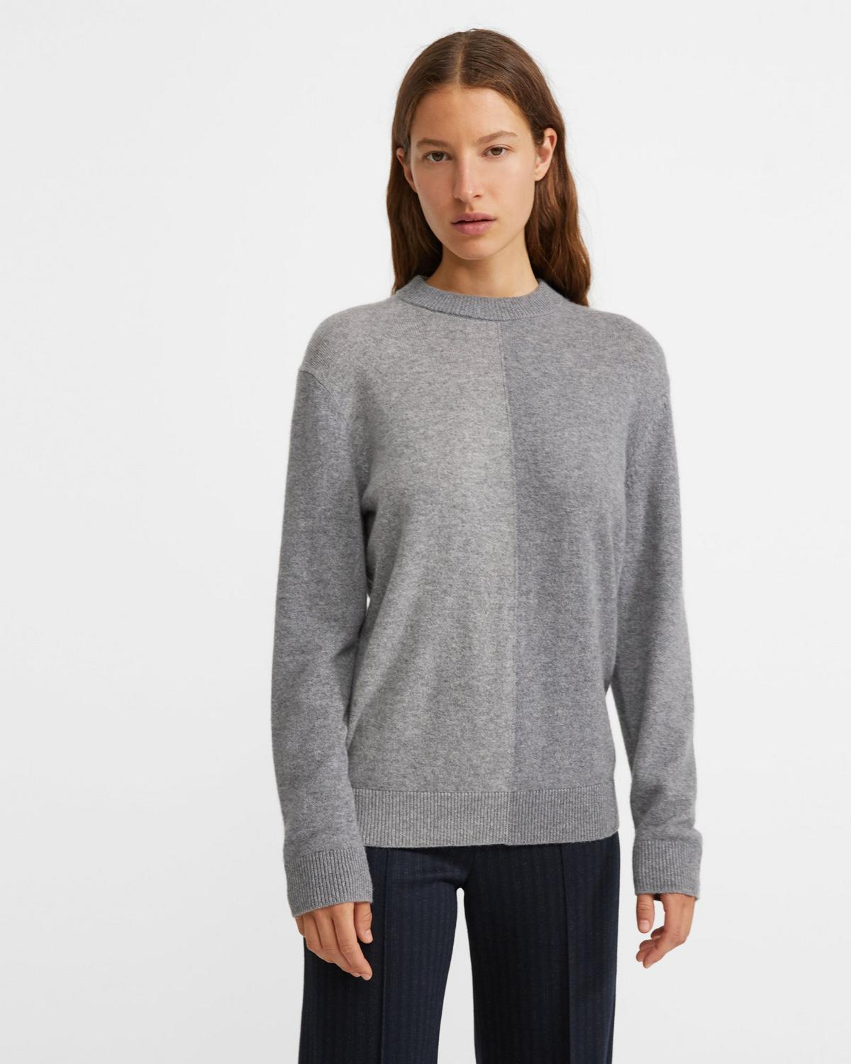 Cashmere Color Block Crewneck